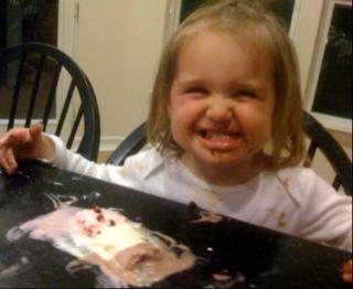 Really Enjoying Her Ice Cream Sandwich